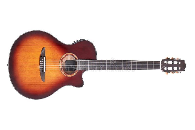 Guitare acoustique de qualité photographie stock libre de droits