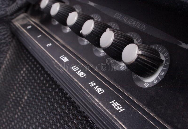 Guitare ampère image stock