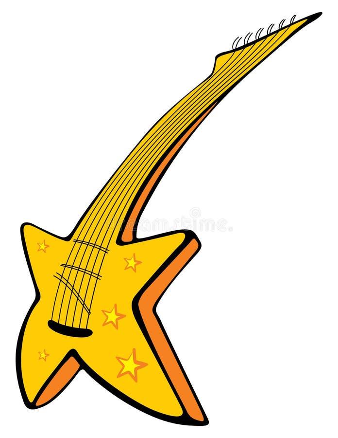 Guitare avec des étoiles illustration libre de droits