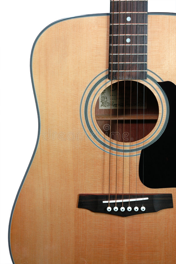 Guitare (avec le chemin de découpage) photographie stock