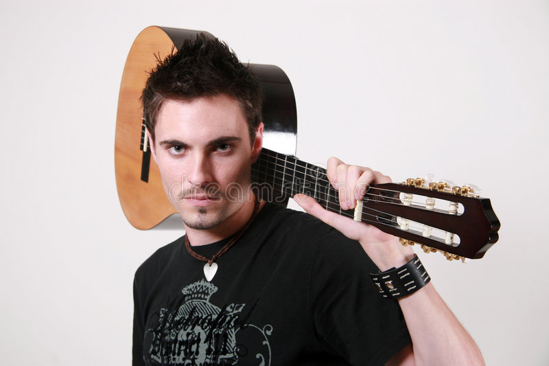 Guitare Badboy - Jon Lorentz images libres de droits