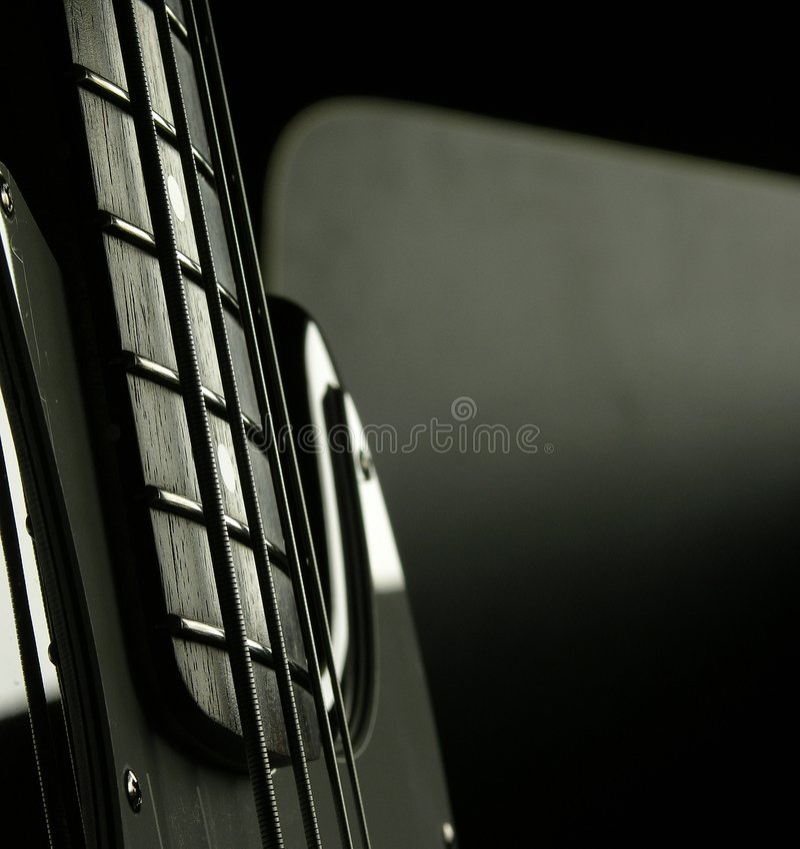 Guitare basse 1 photos libres de droits