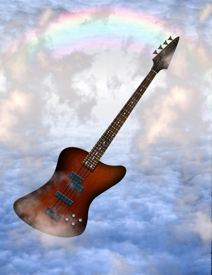 Guitare basse illustration libre de droits