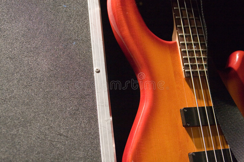 Guitare basse photo libre de droits