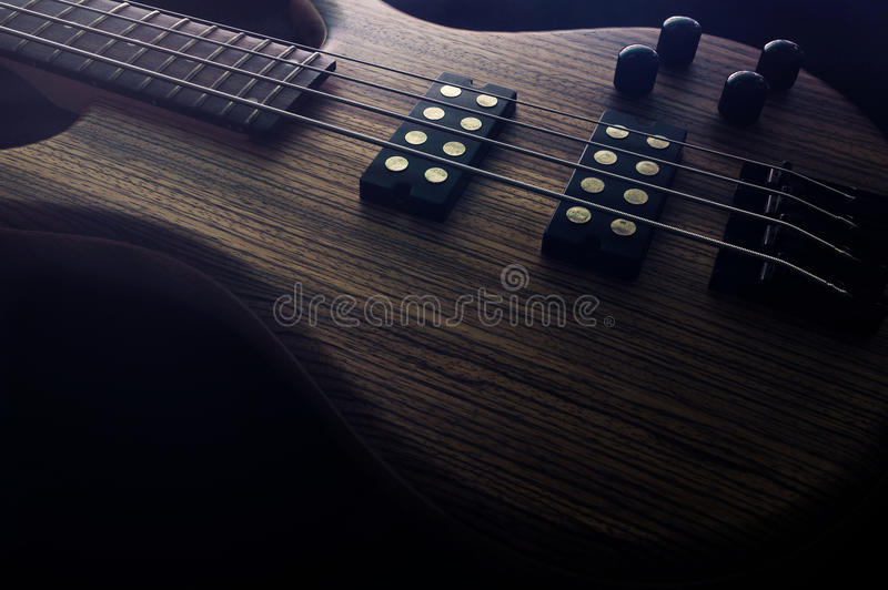 Guitare basse images stock