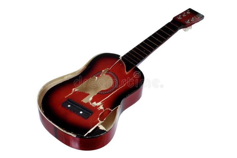 Guitare cassée photographie stock libre de droits