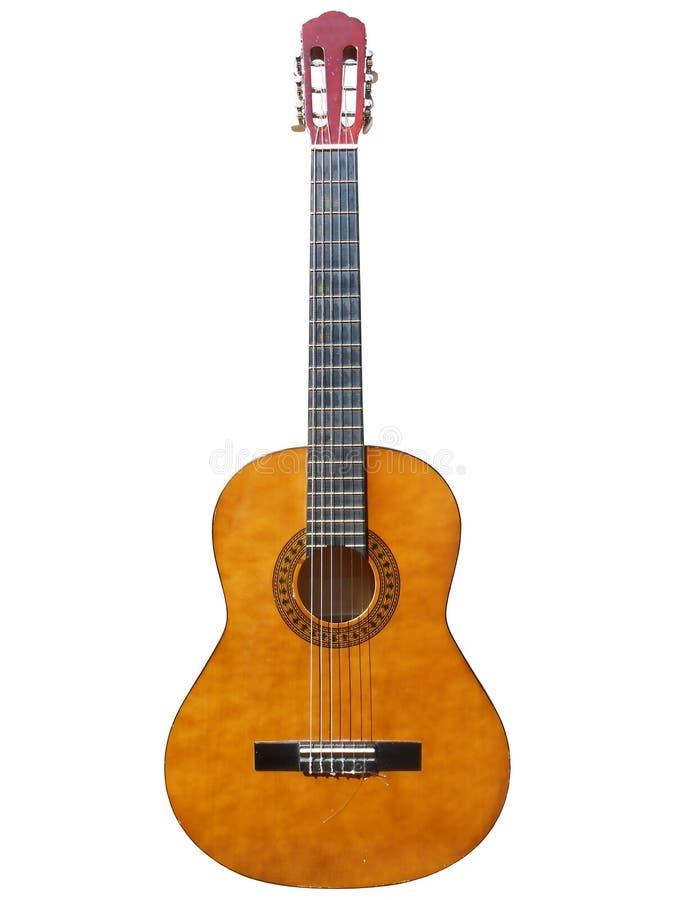 Guitare classique d'isolement images stock