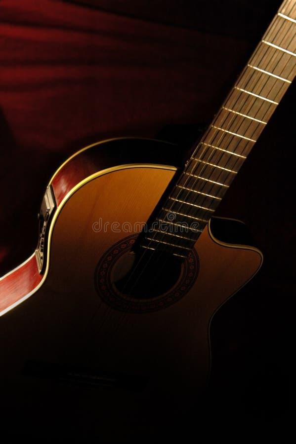 Guitare d'Accoustic image libre de droits
