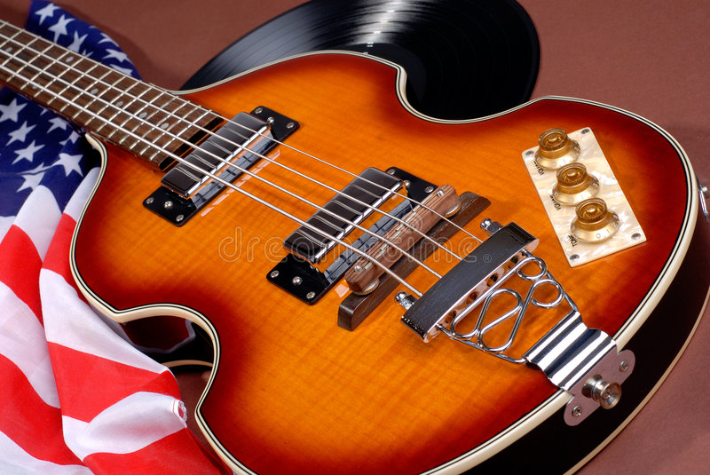 Guitare d'années '60 image libre de droits