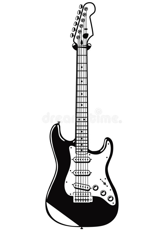 Guitare de vecteur illustration stock