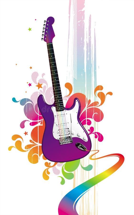 Guitare drôle illustration libre de droits