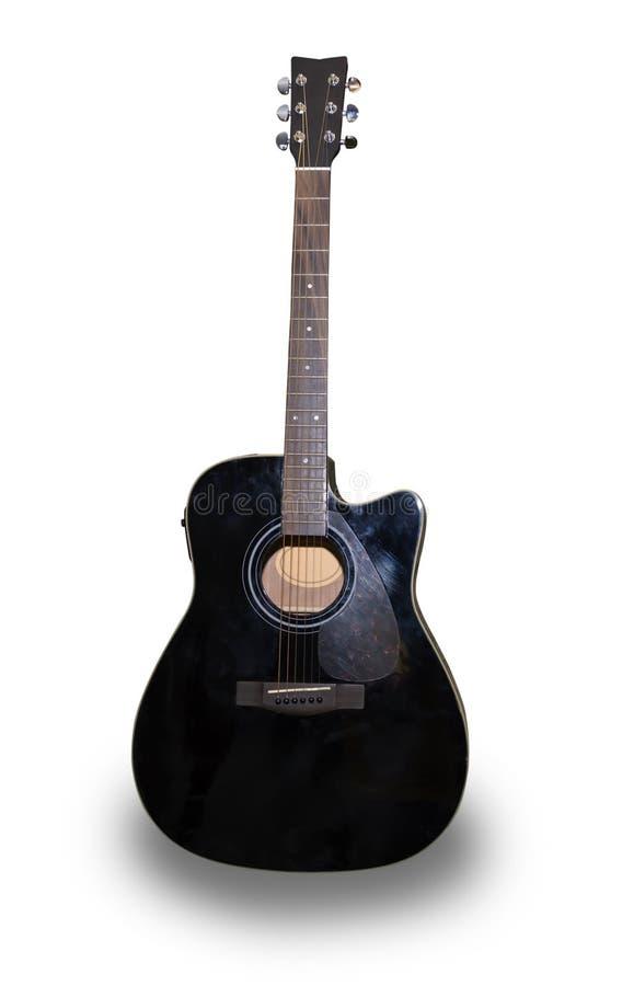 Guitare folklorique électrique d'isolement sur le fond blanc photographie stock libre de droits