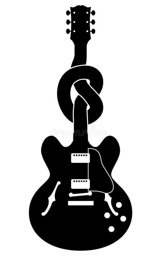 guitare nouée illustration de vecteur