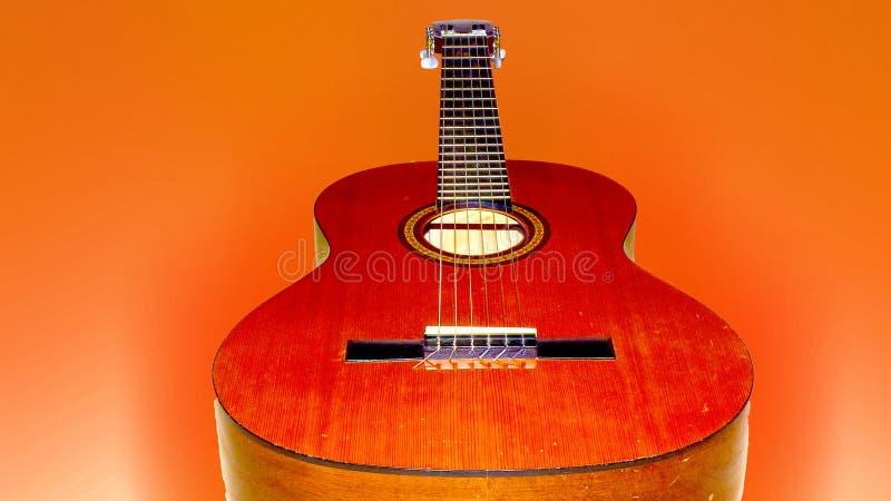 guitare orange image libre de droits