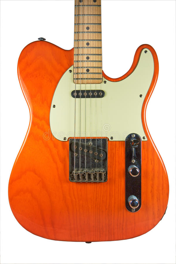 Guitare orange de Telecaster photos stock