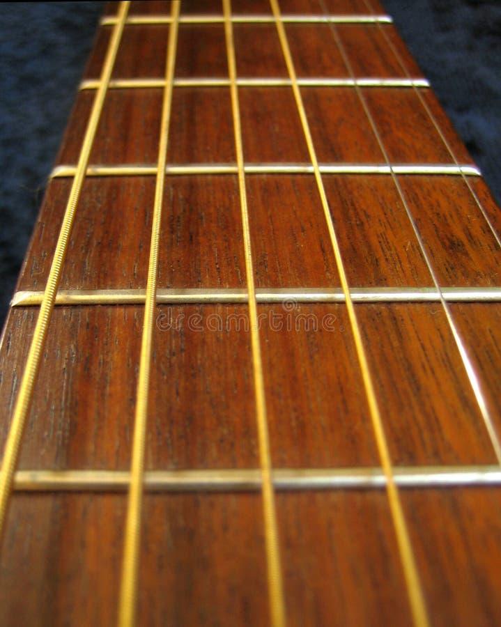 Guitare - point de vue de Fretboard image libre de droits