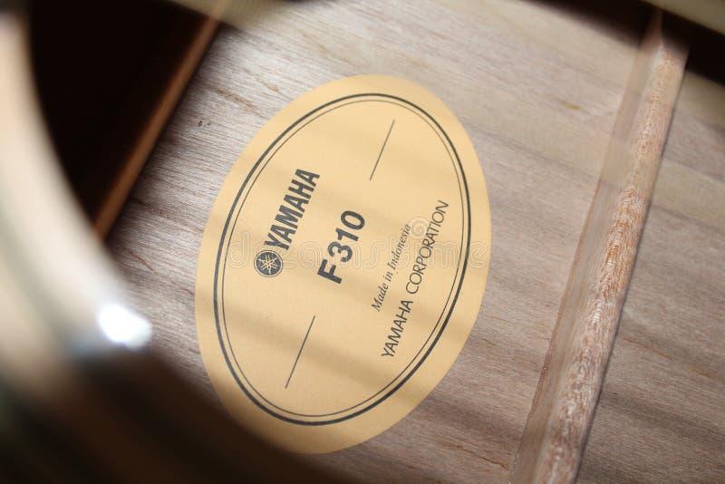 Guitare Yamaha F310 photographie stock