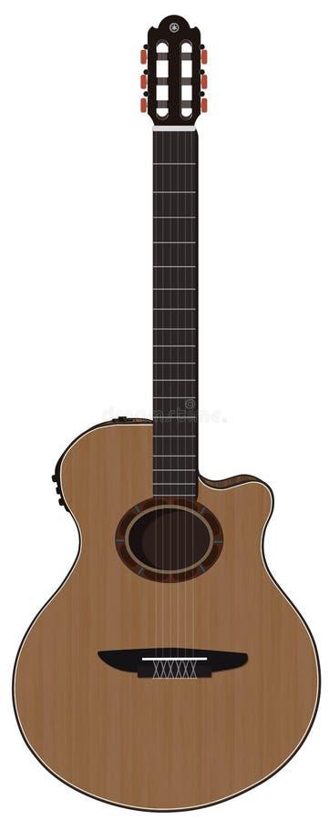 Guitare Yamaha NTX700 électrique acoustique photo stock