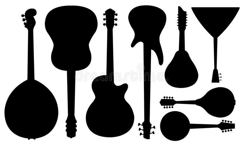 Guitares illustration libre de droits