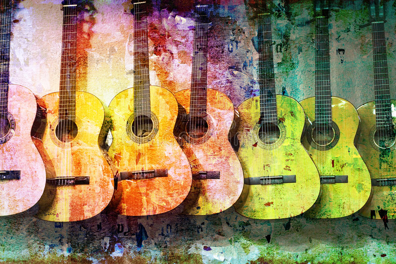 Guitares grunges illustration stock