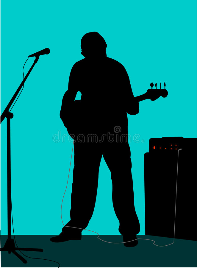 Guitarist 1 stock illustration