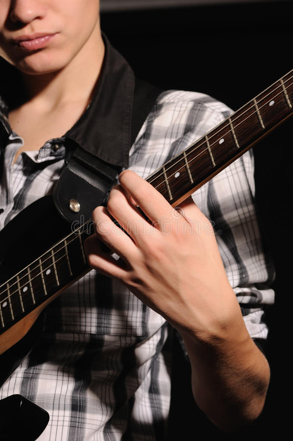 Download Guitarist stock photo. Image of artist, person, dark - 16342714