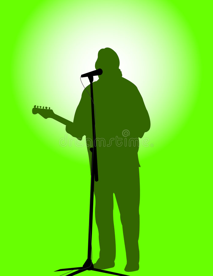 Guitarist 2 stock image