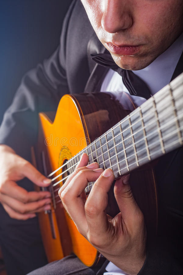 Download Guitarist stock photo. Image of black, classic, dark - 25678652