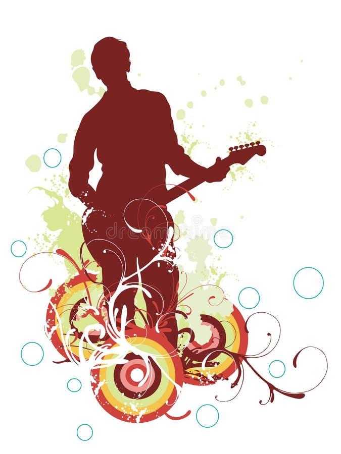 Guitarist royalty free illustration