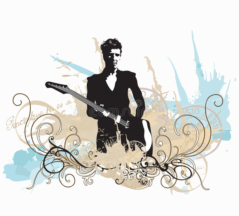 Guitarist royalty free illustration