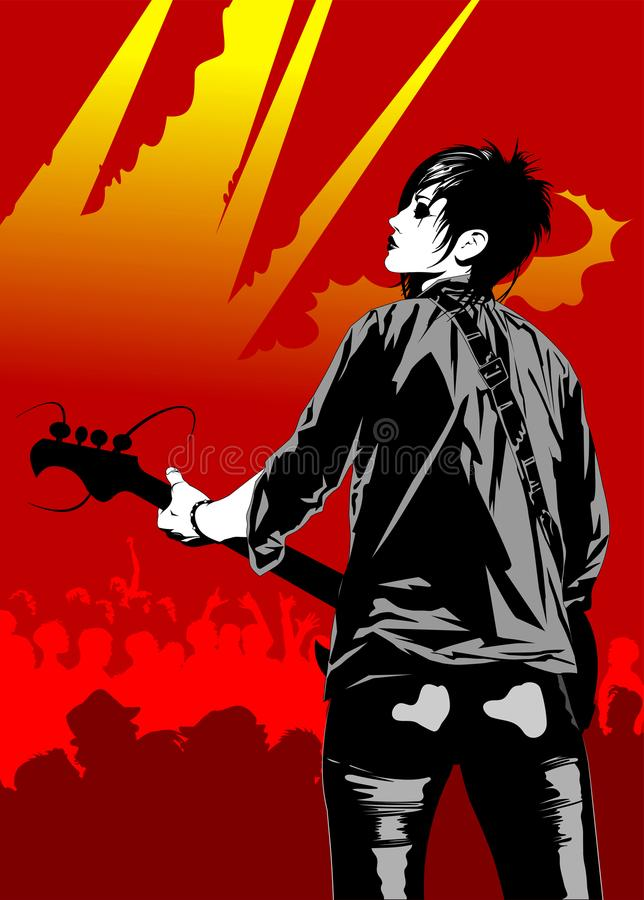 Free Guitarist At A Concert Royalty Free Stock Photography - 111561377