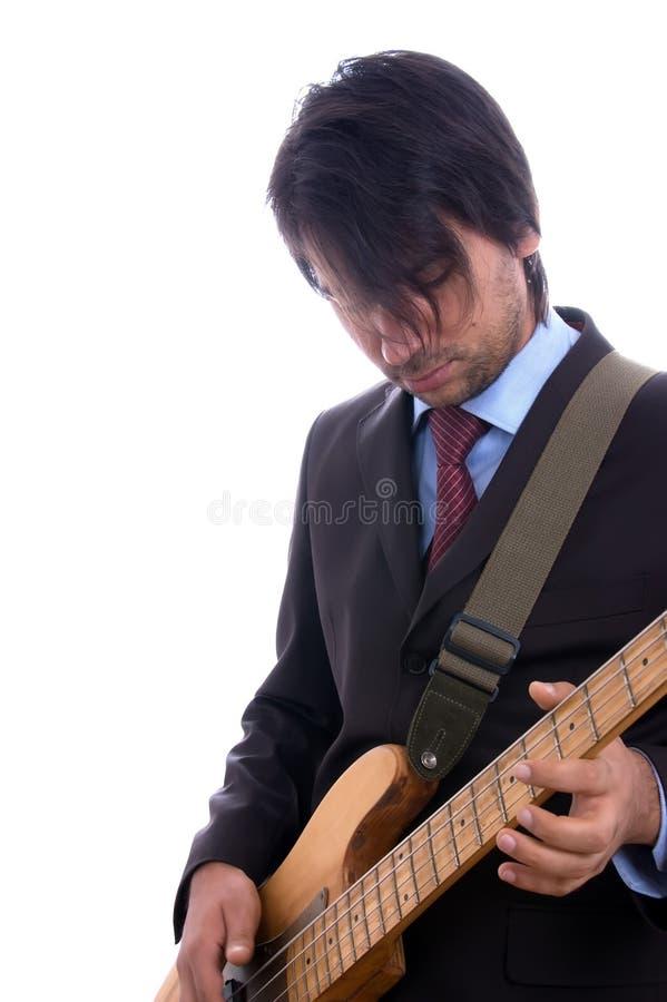 Guitarist detail royalty free stock image