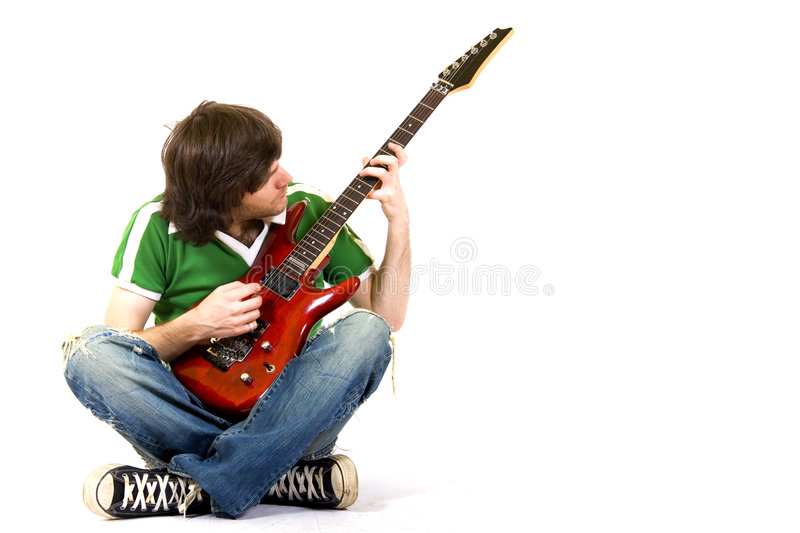 Download Guitarist Playing His Guitar Stock Photo - Image: 7939894