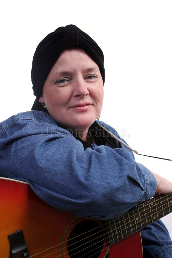 Download Guitarist In Recovery stock photo. Image of alopecia, illness - 306358