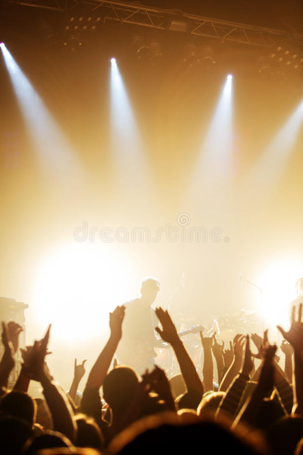 Guitarist on rock concert royalty free stock photography