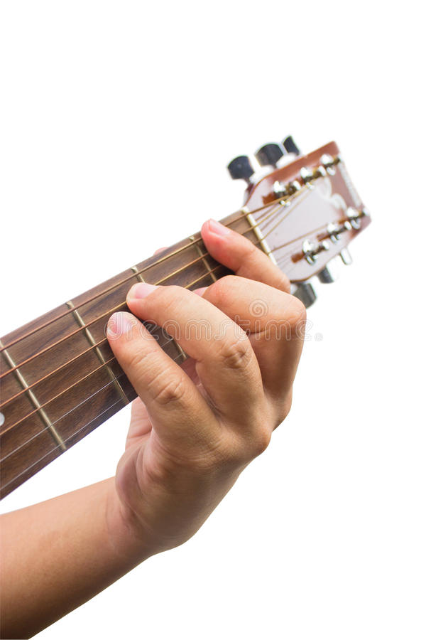 Download The Guitarist Show The F Chord On The Guitar. Stock Image - Image: 33907953