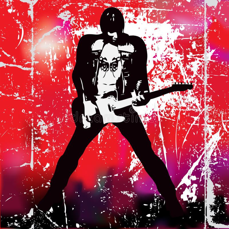 guitarista ilustracja wektor