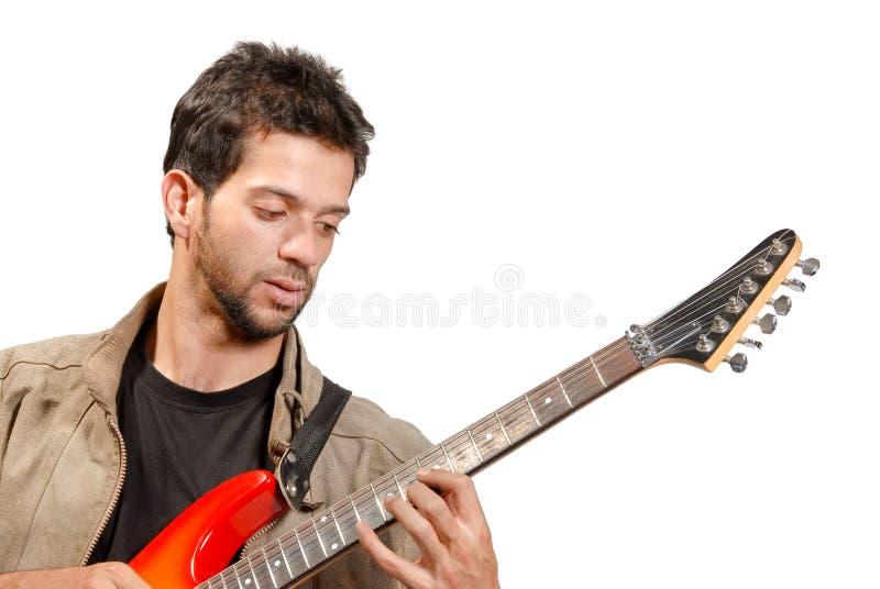 Guitariste photo stock