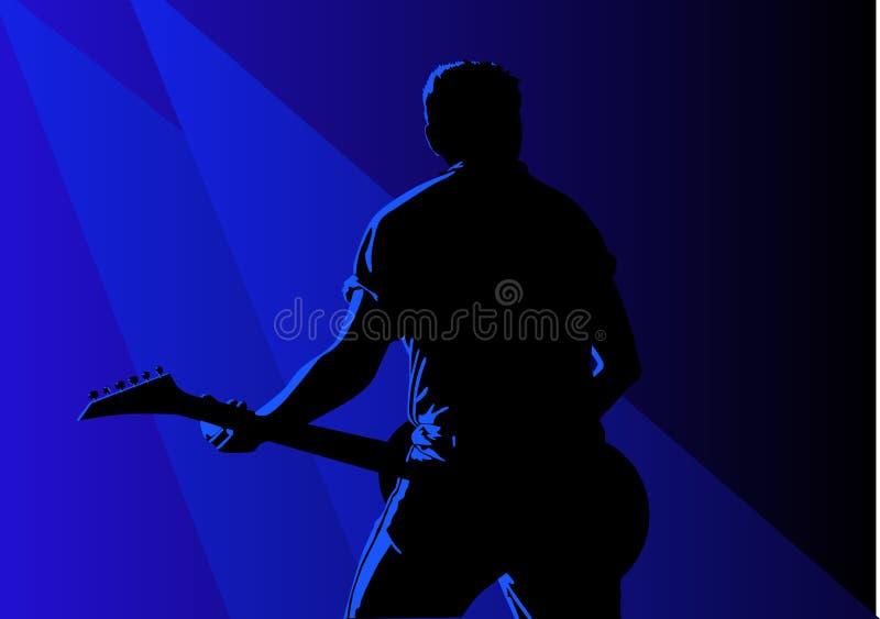 Guitariste illustration de vecteur