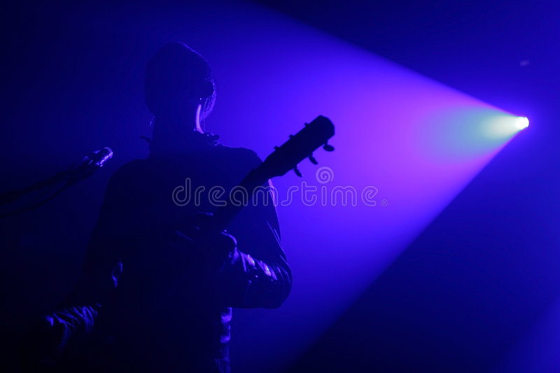 Guitariste photographie stock