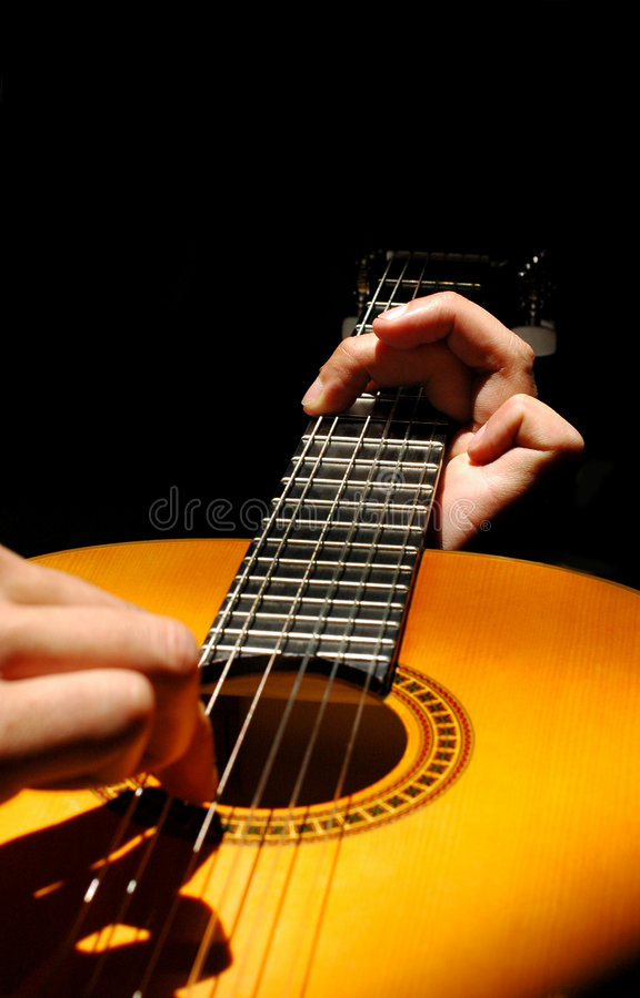 Guitariste photographie stock