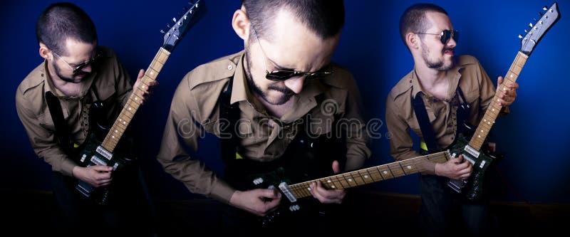 Guitariste de roche image libre de droits