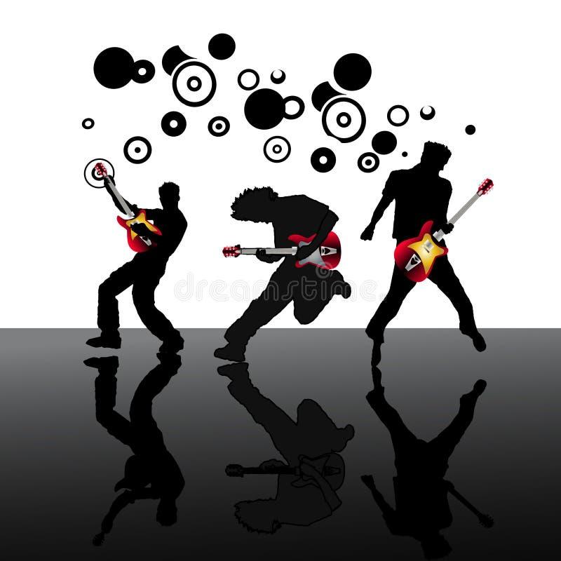 Guitaristes illustration libre de droits