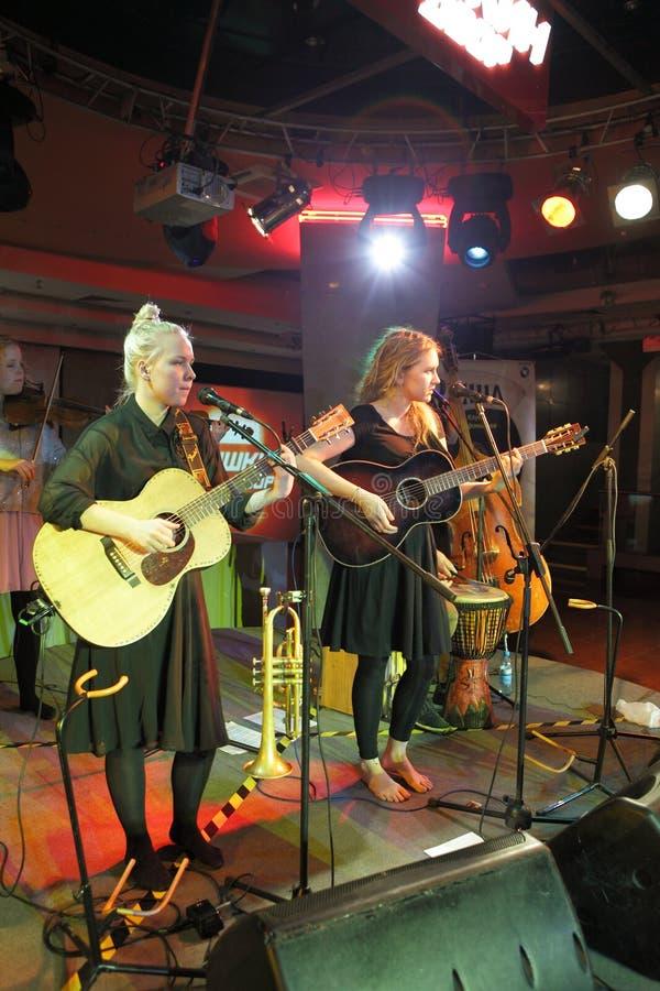 Guitaristes féminins images libres de droits