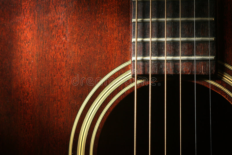 Guitarra 1 fotografia de stock royalty free