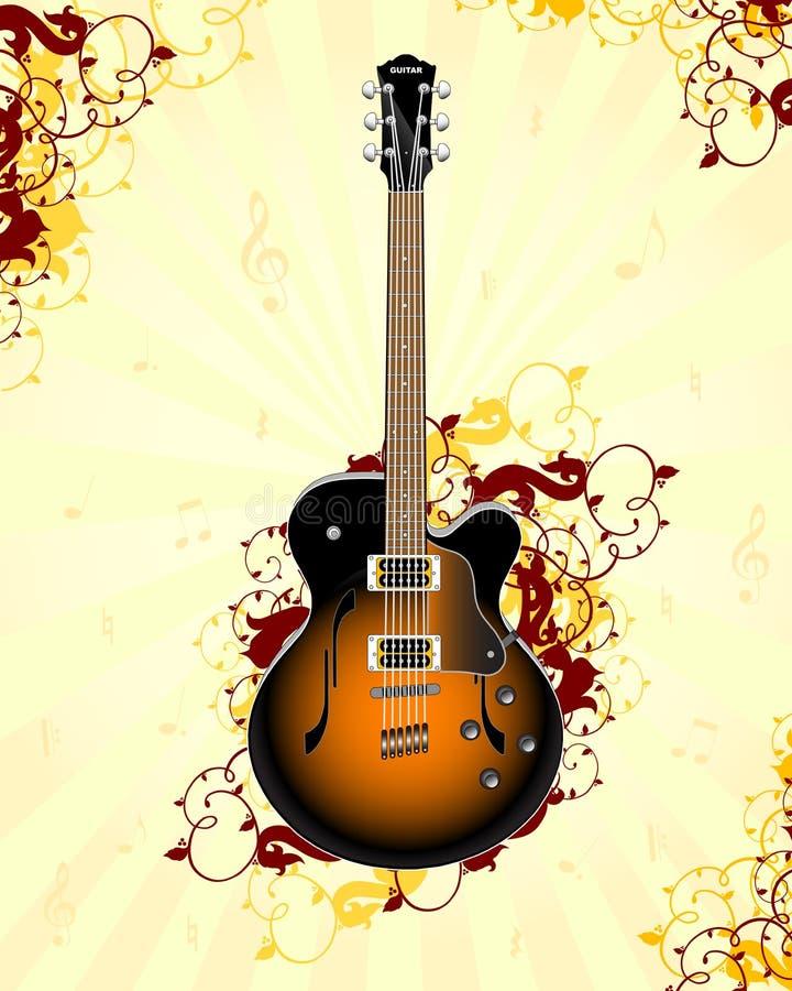 Guitarra ilustração stock