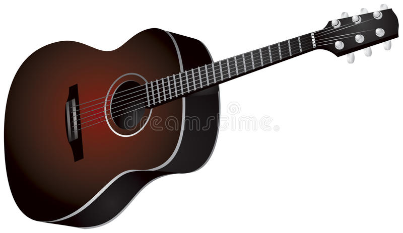 Guitarra stock de ilustración
