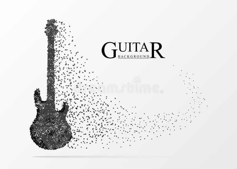 Guitarra abstrata Instrumento musical Fundo creativo Vetor ilustração stock