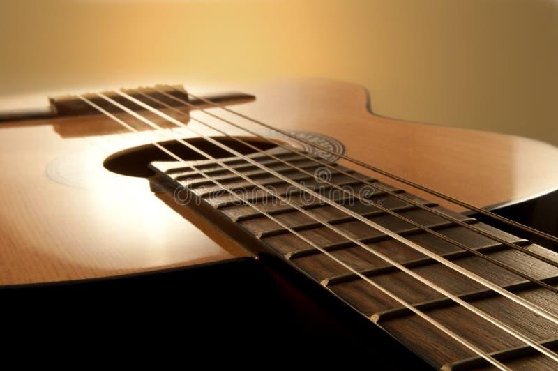 Guitarra acústica imagen de archivo