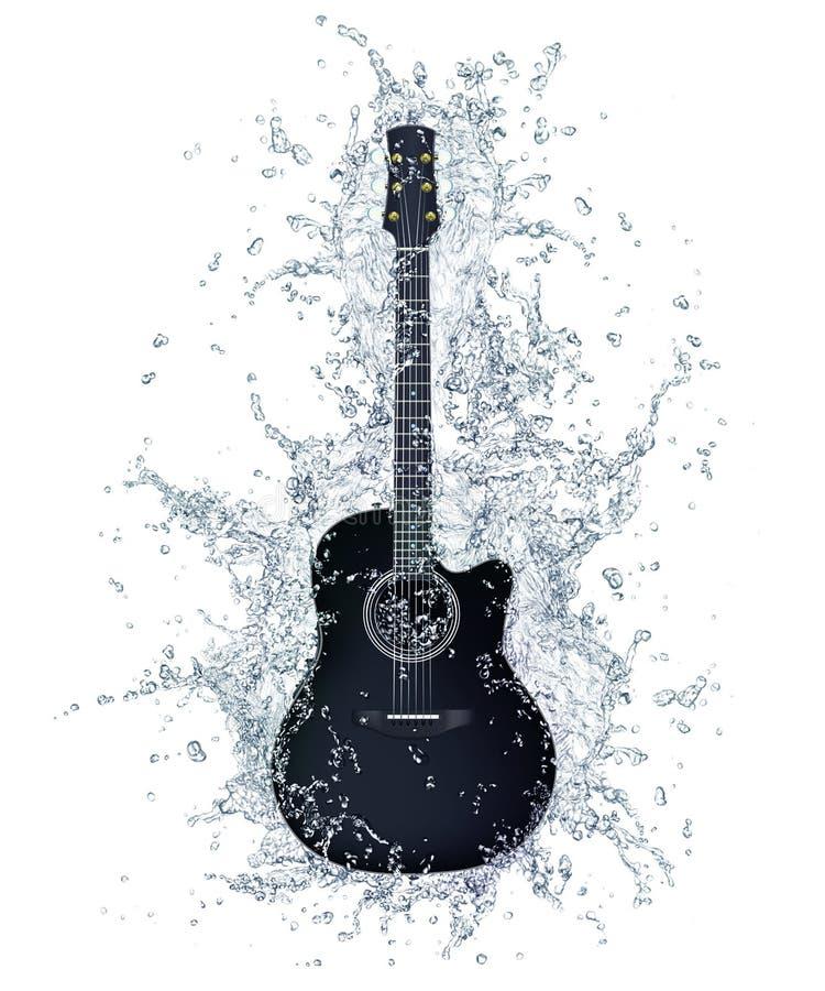 Guitarra acústica ilustração royalty free